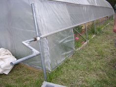 DIY for roll-up sides on hoophouse