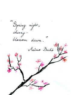 Matsuo Basho - On Love and Barley: Haiku of Basho Japanese Haiku, Japanese Poem, Japanese Quotes, Very Short Poems, Blossom Quotes, Spring Poem, Zen Quotes, Beautiful Words, Poetry