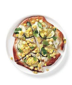 Zucchini and Corn Pizzas