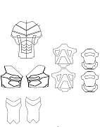 Pdf file of Shades' Arkham Origins Deathstroke armour available on the RPF forum