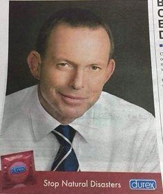Well played Durex...#WellPlayed #auspol