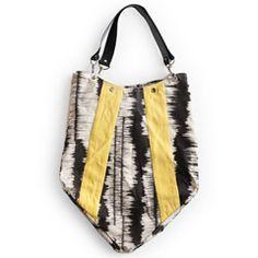 Rosanna Ink Blot Charcoal & Yellow Handbag