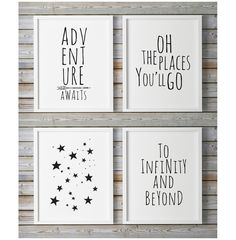 Adventure Awaits, Kids Prints, Baby Wall Art, Gender Neutral, Childrens Wall… More
