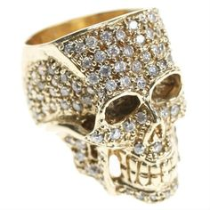 Crystal skull ring by Jessica Kagan Cushman
