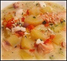Sandra's Alaska Recipes: SANDRA'S WORLD-CLASS ALASKA TRI-SEAFOOD CHOWDER - NEW ENGLAND STYLE