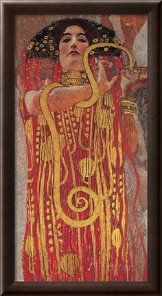 Hygieia (detail from Medicine) Stretched Canvas Print by Gustav Klimt at AllPosters.com