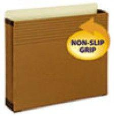 """Desk Supplies>Desk Set / Conference Room Set>Holders> Files & Letter holders: Easy Grip File Pocket, Letter, 3 1/2"""" Exp, Redrope, 25/PK"""