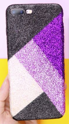 Glitter Phone Cases, Diy Phone Case, Diy Crafts Hacks, Fun Crafts, Bullet Journal Banner, Everyday Hacks, Diy Painting, Just In Case, Good Ideas