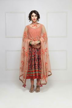 e982588cc85a3 FRONTIER RAAS - embroidered anarkali set Anarkali