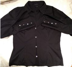 Theory medium button down blouse. Be #professional #chic and #trendy but pay only $20 instead of $215 at www.theretailrebellion.com