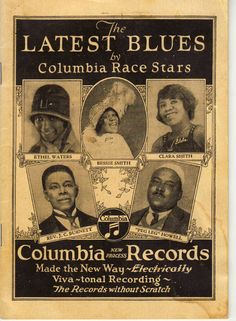Columbia 1927 catalog with Bessie Smith as one of the featured artists Jazz Blues, Blues Music, Music Stuff, My Music, Music Life, Jazz Music, Radios, When The Levee Breaks, Bessie Smith