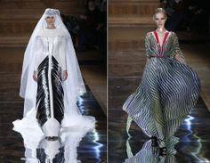 Trajes largos y de novia impregnados por la estética de Oscar Carvallo e inspirada por Carlos Cruz-Diez