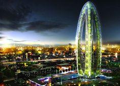 Biotic Arch by Vincent Callebaut, Taichung Active Gateway City, Futuristic Skyscraper #architecture ☮k☮