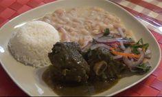 COMIDA PERUANA: Recetario de Cocina: RECETA DE SECO CON FRIJOLES COMIDA PERUANA