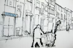 Thread Drawing by Debbie Smyth