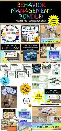 Behavior and Classroom Management Bundle! Over 50% savings! 7 Subsavvy Products
