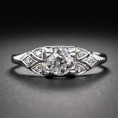 .45 Carat Art Deco Diamond Engagement Ring - 10-3-6132 - Lang Antiques