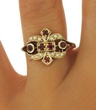 Sparkle this holiday season with a stunning antique ring! #BrilliantEarth