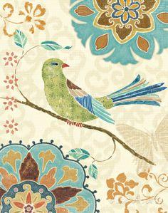 Eastern Tales Birds II Poster von Daphne Brissonnet bei AllPosters.de