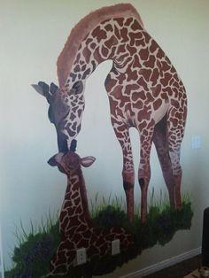 giraffe for a little girls bedroom Giraffe Room, Giraffe Print, Girls Room Design, My Room, Girls Bedroom, Painting & Drawing, Little Girls, Giraffes, My Favorite Things
