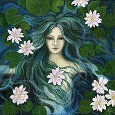 "Art and Illustrations by Amanda Clark: May 2010 ""Water Deva"" Earth Angels Art. Art and Illustrations by Amanda Clark: May 2010 Art And Illustration, Art Illustrations, Illustrator, Clark Art, Pagan Art, Triple Goddess, Goddess Art, Angel Art, Whimsical Art"