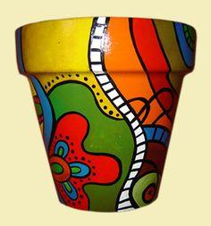 Flower Pot Art, Flower Pot Design, Flower Pot Crafts, Clay Pot Crafts, Painted Plant Pots, Painted Flower Pots, Decorated Flower Pots, Pottery Painting, Terracotta Pots