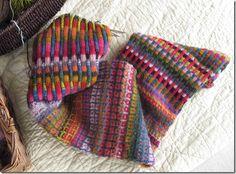 color + knittin' = makin' me smile Knitting Stiches, Crochet Stitches Patterns, Knitting Needles, Knitting Yarn, Hand Knitting, Stitch Patterns, Knitting Patterns, Ufo, Fair Isle Knitting
