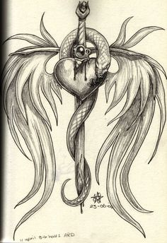 broken heart drawings | broken heart, I know, clichee by ~daisyamnell on deviantART
