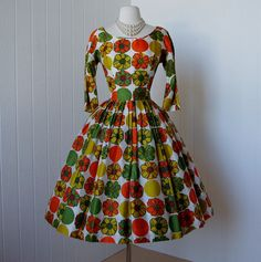 vintage 1950's Gigi Young dress ...flowers and dots by MissAndMasterVintage, $240.00