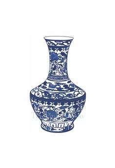 Blue and White Chinese Vase - 7  13x19 Giclee. $45.00, via Etsy.