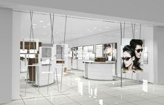 Concise and elegant style optical store design and sunglasses shop--Customized food ,jewelry showcase, cabinet,cosmetics displays, cell phon...