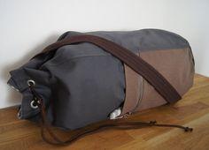 SAILOR BAG/ backpack.Graphite sturdy cotton fabric sailor bag. Summer bag for men.Sports bag.Gym bag.