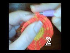 Cómo tejer una mochila estilo wayuú paso a paso Base part 1 - YouTube