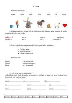6654510 fise-limba-romana-clasa-i Visual Perceptual Activities, Math Worksheets, Kids Education, Speech Therapy, Good To Know, School, Children, David, Early Education