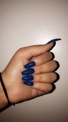 Dark Blue Nails, Blue Acrylic Nails, Acrylic Nail Designs, Summer Acrylic Nails, Acrylic Art, Summer Nails, Aycrlic Nails, Cute Nails, Pretty Nails
