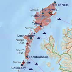 Map of the Western Isles - My novel is set here, in a time period when climate change has changed the map