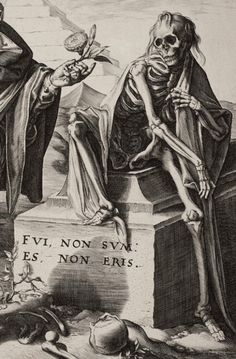 Jan Saenredam - Death Surprising a Young Man (detail)