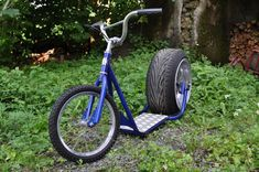 My KickBike project Mini Bikes, Trikes, and Choppers Scooter Bike, Kick Scooter, Lowrider Bicycle, Diy Go Kart, Build Stuff, Honda Ruckus, Concept Motorcycles, Diy Adult, Drift Trike