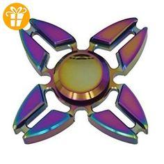 Hand Spinner Stress, Metall Reflexionen 4 Pin Modell X, Mehrfarbig - Fidget spinner (*Partner-Link)