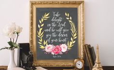 Bible verse wall art print Bible quote by AtticOfMemories on Etsy