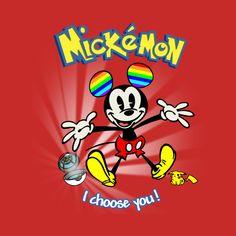 Check out this awesome 'Rainbow Mickémon!' design on @TeePublic! Gay days rainbow Mickey Mouse Pokémon pikachu go tshirt