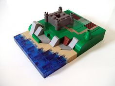 Micro LEGO Castle by wunztwice, via Flickr