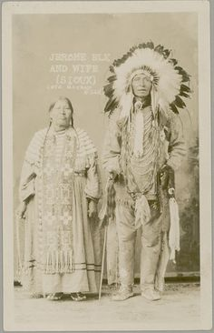 Dakota Sioux, Jerome Elk and his wilfe