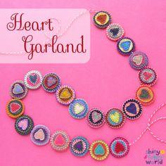 Heart Garland - a free pattern from Shiny Happy World
