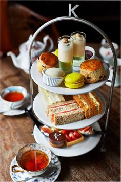 Afternoon tea at Kettners. London