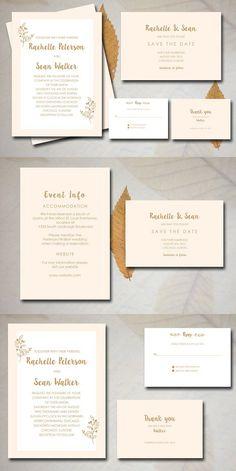 Classic Wedding Invitation. Wedding Card Templates
