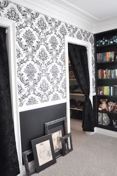 teen bedroom. curtain for the closet, i would love to do that, maybe even a bead…
