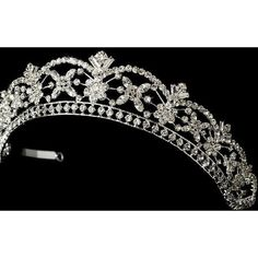 crystal bridal tiara for a medieval themed wedding ❤ liked on Polyvore