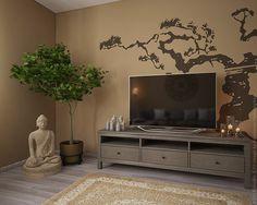 Дерево и будда в дизайне интерьера квартиры