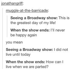 Seeing a Broadway show